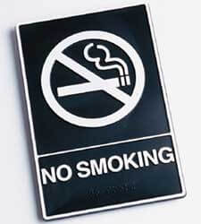 Photo of a NO SMOKING sign