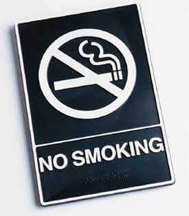 Photo of a NO SMOKING sign