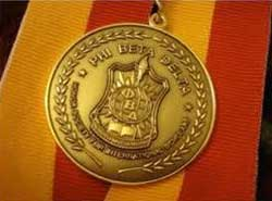 Phi Beta Delta medallion