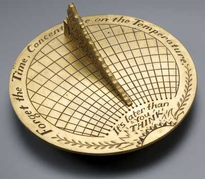 """Michael Dinges' """"Sundial,"""" on loan from the artist and Packer Schopf Gallery."""