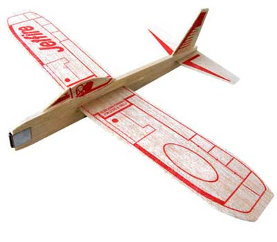 Photo of a wooden airplane