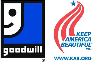Logos of Goodwill and Keep America Beautiful