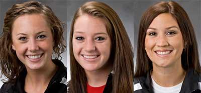 Jamie Burr, Michaela Dwyer and Erica Miller