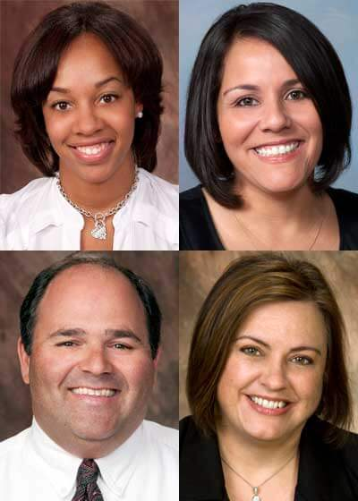 Top: Latasha Bennett, Sandy Lopez. Bottom: Nancy Russo and James Cohen