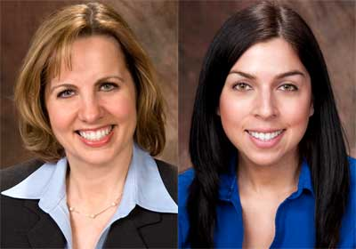 Laurie Elish-Piper and Emily Prieto
