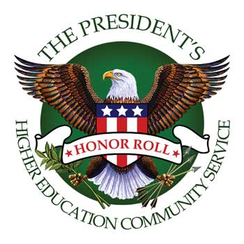 The President's Higher Education Community Service badge