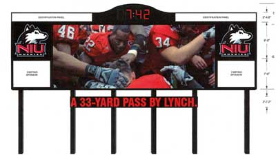 Rendering of new Huskie Stadium scoreboard