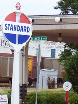 Old Standard Oil Station in Rochelle, Ill.