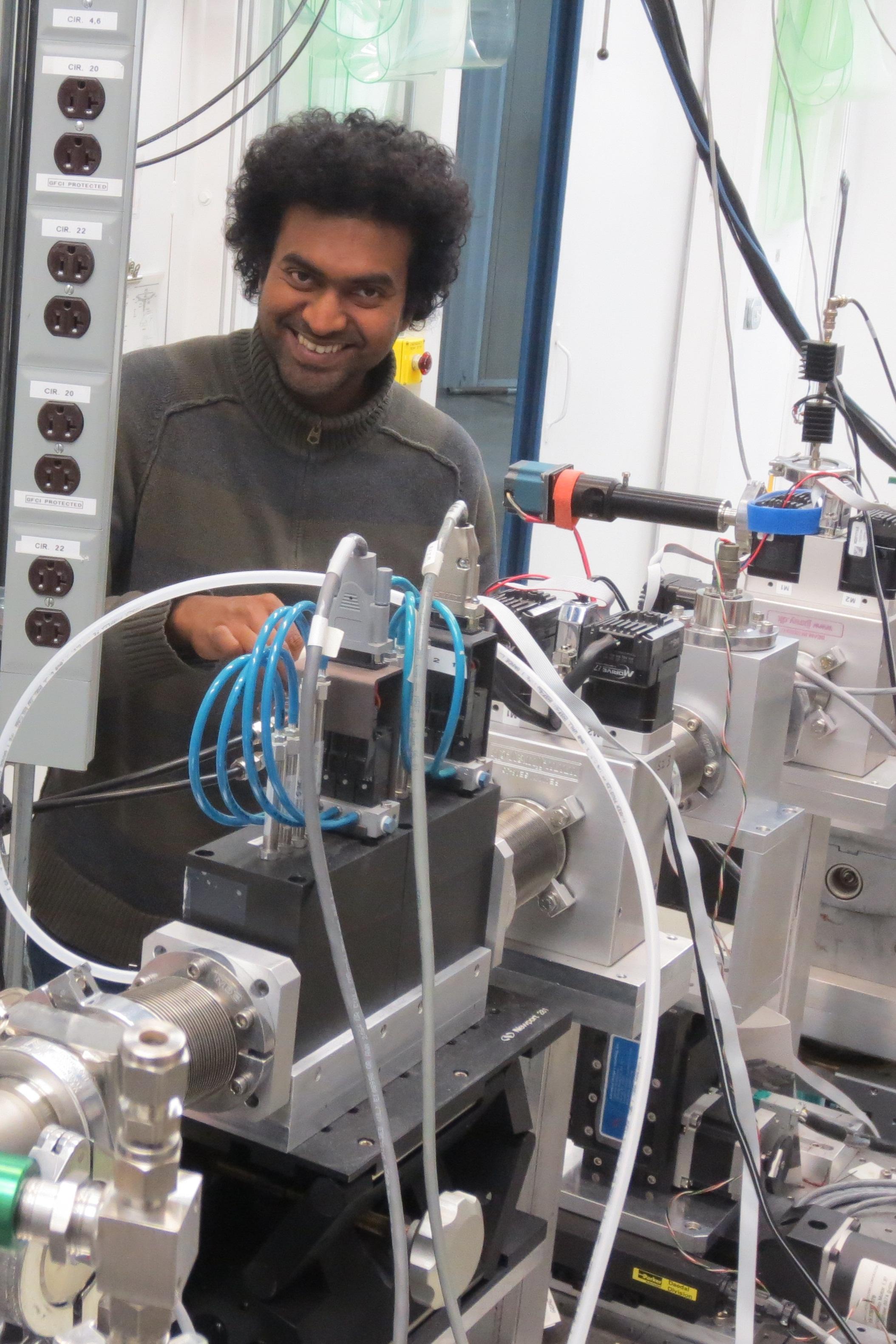 Ph.D. student Nuwan Karunaratne