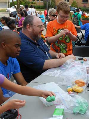 Steven Roman led the Squishy Circuit activity at last year's fair. The activity is back by popular demand in 2013.