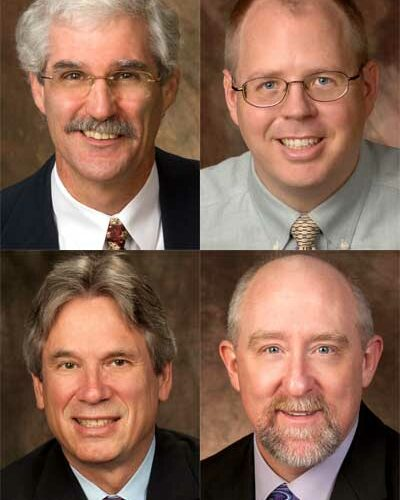 Top row: David Ballantine and J.D. Bowers Bottom row: Jeff Chown and William Pitney