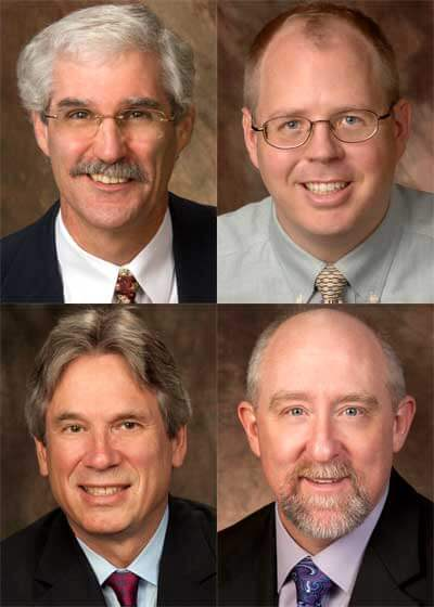 Top row: David Ballantine and J.D. Bowers Bottom row: Jeffrey Chown and William Pitney