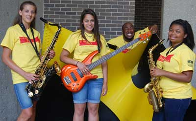 The College of Visual and Performing Arts will offer its popular Jazz Camp the week of July 14.