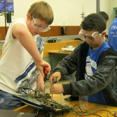 STEM camps offer sessions such as the Tinker Lab, where campers can take electronics apart and see how they work.