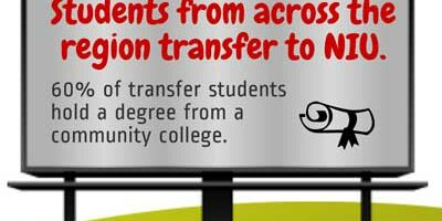 Students from across the region transfer to NIU.