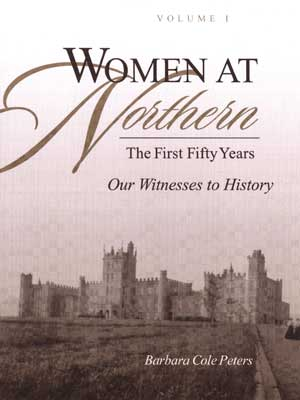 "Book cover at ""Women at Northern: The First Fifty Years"""
