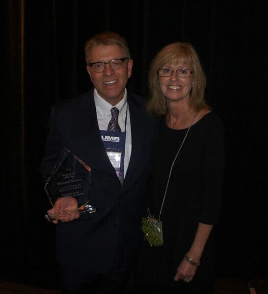 Michael Steelman, pictured with his wife Laura, was named 2013 Illinois Banker of the Year during the 122nd IBA Annual Conference & Trade Show