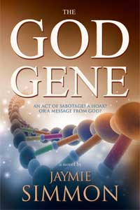 "Cover of ""The God Gene"" by Jaymie Simmon"