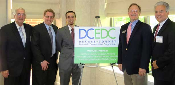 John Lewis, Matt Parks, Clayton Black,Paul Borek and Scot Eberle at the May 30 DCEDC luncheon.
