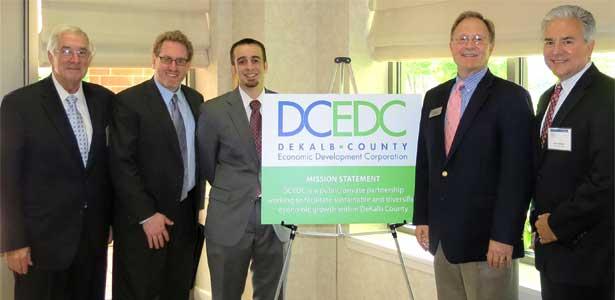 John Lewis, Matt Parks, Clayton Black,Paul Borek and Scot Eberle at the May 30 DCEDC  luncheon.