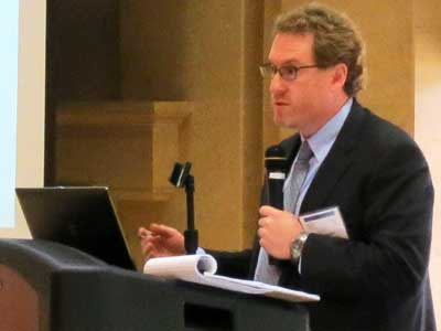 Matthew Parks gives an update on the iFiber and DATA projects at the May 30 DCEDC broadband forum.