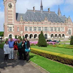The NIU group in front of Peace Palace in the Netherlands.