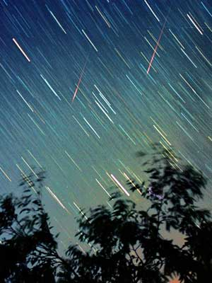 Attendees can view the Perseid Meteor Shower, which occurs every August when Earth passes through the tail of the Swift-Tuttle comet. Image courtesy of NASA.