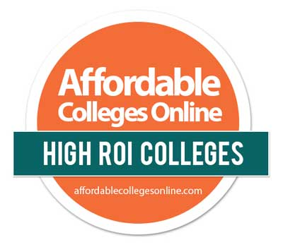 Affordable Colleges Online - High ROI Colleges badge