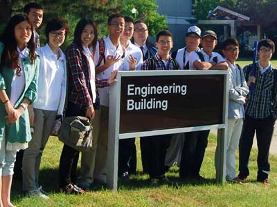 Students from Zhejiang University of Technology visit NIU