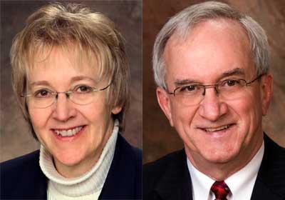 "Anne Kaplan and Earl ""Gip"" Seaver"