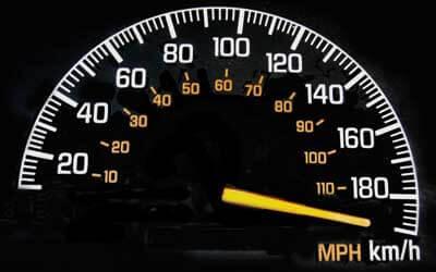 Photo of a speedometer