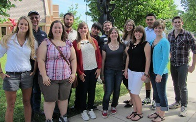 Participants in this summers Research Experience for Undergraduates Program.