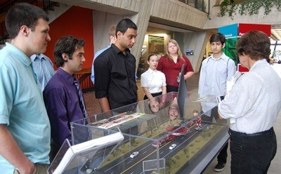 Students in the inaugural Summer Research Opportunities Program during a visit to Fermi National Accelerator Laboratory.