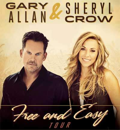 Gary Allan & Sheryl Crow Free and Easy Tour logo