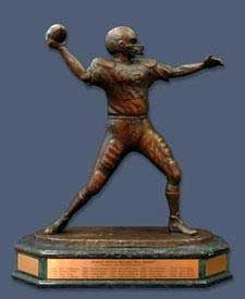 Photo of the Johnny Unitas Golden Arm Award trophy
