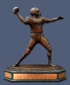 Photo of the Johnny Unitas Golden Arm Award trophy