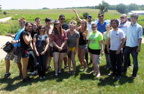 The NIU McKearn Fellows during a visit to the Nachusa Grasslands.