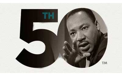 MLK 50th logo