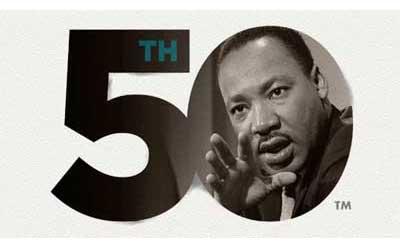MLK 50th logo