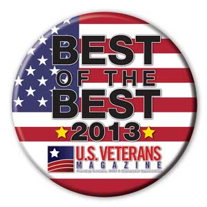 U.S. Veterans Magazine Best of the Best 2013 badge