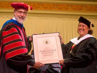 NIU President Doug Baker and Her Royal Highness Princess Maha Chakri Sirindhorn of Thailand