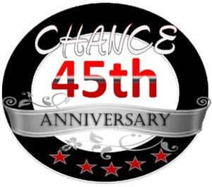 CHANCE 45th Anniversary logo