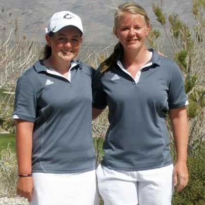 Sisters and Huskie golfers Taylor (left) and Connie Ellett