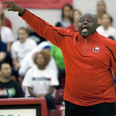 NIU head volleyball coach Ray Gooden
