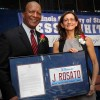Illinois Secretary of State Jesse White and NIU College of Law Dean Jennifer Rosato