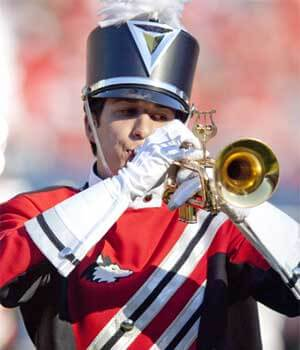 Huskie Marching Band trumpeter