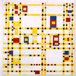 """Piet Mondrian's """"Broadway Boogie Woogie"""" (1943)"""