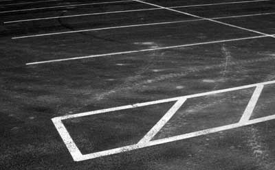 Photo of parking spaces