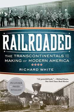 """Railroaded"" book cover"