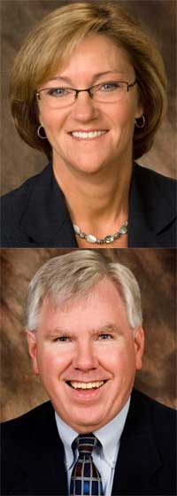Denise Schoenbachler and Jim Young